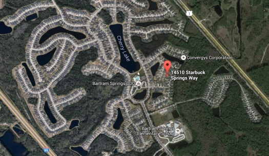 Map 14510 Starbuck Springs Way, Jacksonville, FL