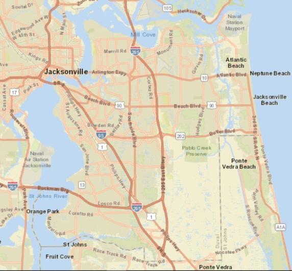 Jax Street Map